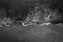 Black And White Aerial Shot Of...