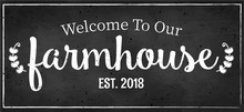 Beautiful Vintage Welcome Sign...