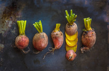 Group Of Golden Beets