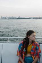 Teenager On Fairy On Hudson River