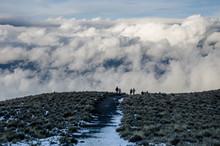 Vereda Nevada En El Nevado De Toluca, Caminando Entr Nubes