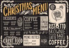 Christmas Menu Template For Co...