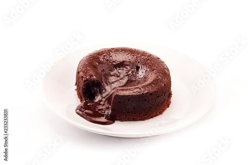 Foto op Canvas Chocolade Chocolate fondant cake, Hot Chocolate Pudding