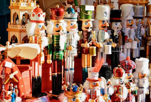 Foto op Plexiglas Kerstmis Nutcrackers Christmas Market at Alexanderplatz in Winter Berlin Germany