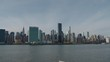 East Side of New York City Pan to Long Island