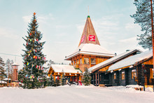 Santa Claus Office In Santa Claus Village In Rovaniemi