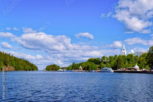 Fotografie, Obraz  Valaam Monastery and Ladoga Lake in Karelia Russia