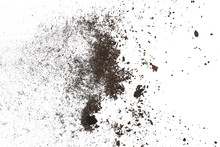 Pile Dust Dirt Isolated On Whi...