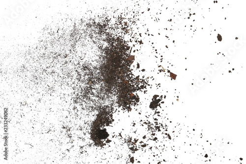 Fotografía  pile dust dirt isolated on white background, with clipping path