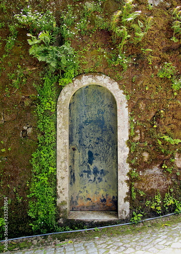 Fotografie, Obraz  Garden door in Quinta da Regaleira estate, Sintra, Portugal.