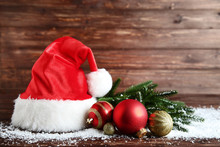 Santa Claus Hat With Baubles A...