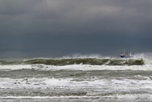 Dutch North Sea Coast At Paal 20 On Dutch Island Of Texel