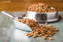 Dry Pet Food. Dry Kibble Food.