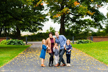 Family Posing Outdoors