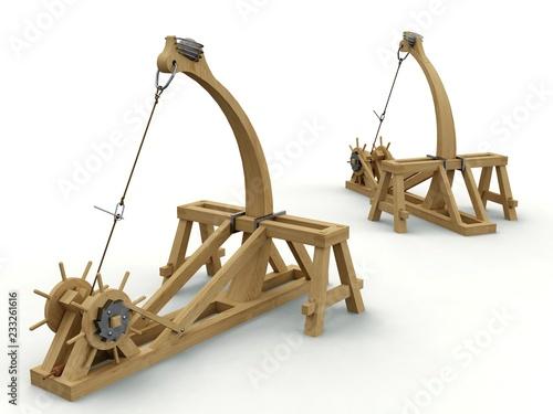 Catapult, Leonardo da Vinci, Codex Atlanticus 0141r. Fototapete
