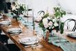 canvas print picture - Wedding table decoration