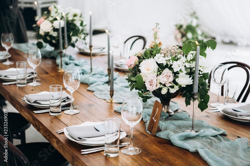 Valokuva Wedding table decoration