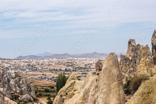landscape of rocky formation in Cappadocia