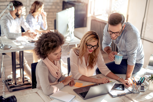 Fototapety, obrazy: Business professionals working together