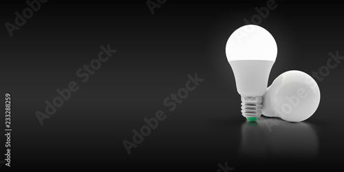 Photographie  LED light bulb on an isolated background