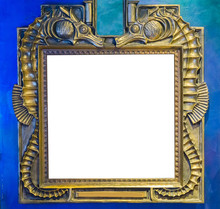 Empty Golden Painting Or Mirro...