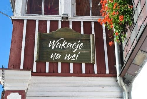 Fototapeta Wakacje na wsi obraz