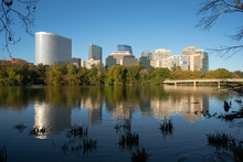 Downtown Alexandria Virginia Buildings Reflected In The Potomac River