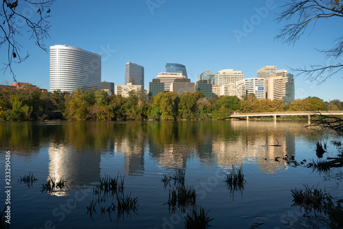 Downtown Alexandria Virginia Buildings Reflected in the Potomac River Canvas Print
