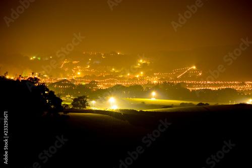 Obraz na płótnie Isle of Wight Bestival Site Illuminated at Night