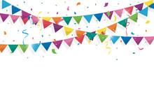 Colorful Bunting Flags With Co...