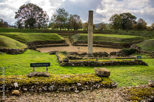 Foto op Canvas Theater Roman Theatre at St Albans, Hertfordshire, England.