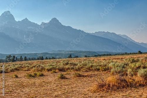 Aluminium Prints Dark grey Grand Teton National Park in Wyoming