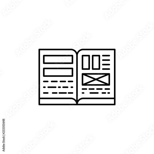 Magazine, writing, editing file icon  Element of editorial