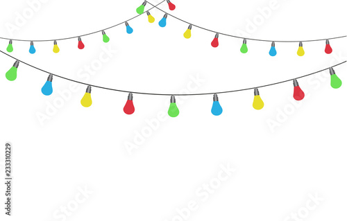 Fototapeta Christmas lights isolated obraz na płótnie