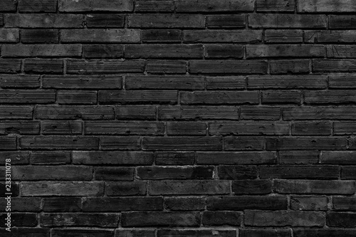 Garden Poster Brick wall Background black wall large texture.
