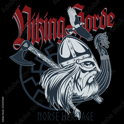 Photo Norse warrior Berserker
