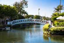 A Bridge Over One Of The Canals In Venice, California
