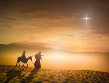 Nativity Christmas Concept: Si...