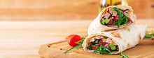 Tortillas Wraps With Chicken A...