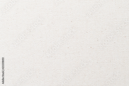 White canvas burlap texture background with cotton fabric pattern in light grey Fototapeta