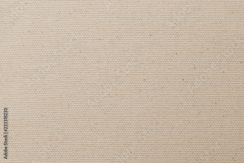 Fotografie, Obraz  Canvas burlap fabric texture background for arts painting in beige light sepia c