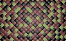 3D Render Continuous Pattern