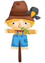 A Vector Of A Cute Scarecrow W...