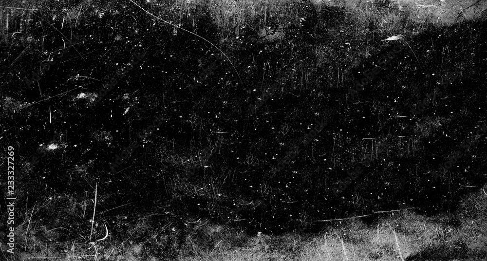 Fototapety, obrazy: Dark scratched grunge background, old film effect