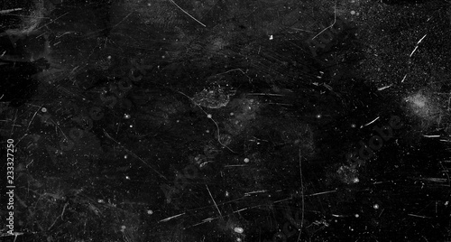 Black scratched grunge background, old film effect, space for text Fototapete