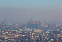 Dense Smog Over The City, Aeri...