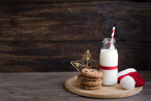 Cookies And Milk For Santa.