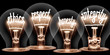 canvas print picture - Light Bulbs Concept