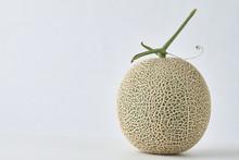 Fresh Melon On White Background.