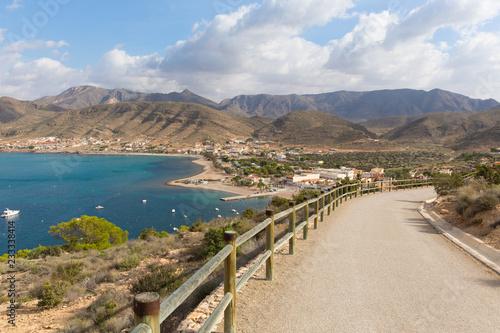 Coast path leading to Torre de Santa Elena La Azohia Murcia Spain, on the hill above the village located between Puerto de Mazarron and Cartagena